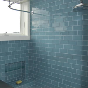 Bathroom Glass Subway Tile interesting bathroom glass subway tile gray shower brick pattern