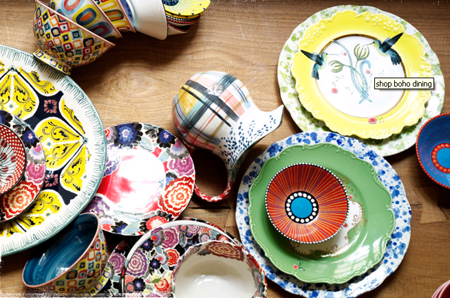 Boho dining from anthropolo